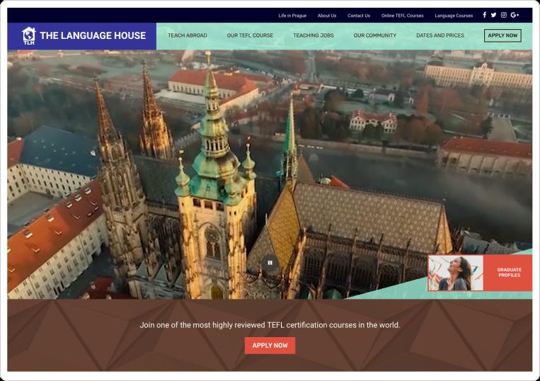 The Language House Homepage