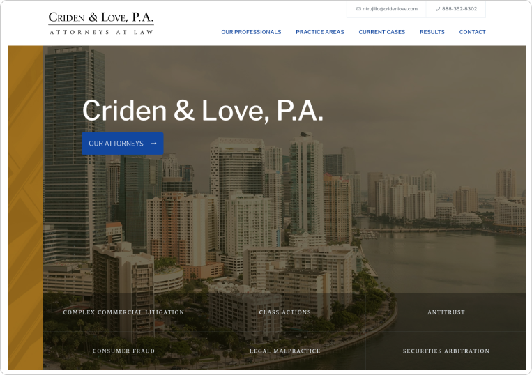 Criden & Love Desktop Site